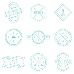 Set of Retro Vintage Hipster Logotypes.