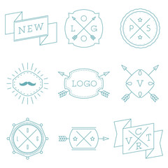 Set of Retro Vintage Hipster Logotypes.