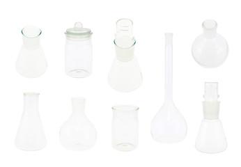 Set of multiple chemistry glassware