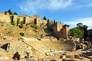Roman Theatre of Malaga, Andalusia, Spain