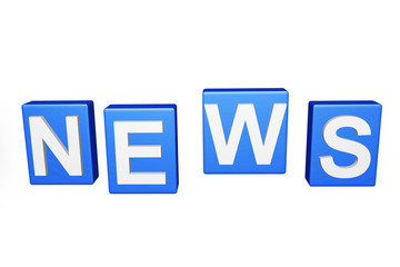 3d letter with word NEWS