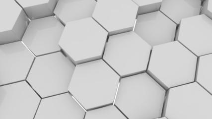 Hexagons.Alpha matte