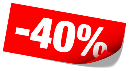 "Sticker Tag ""Sale"" -40%"