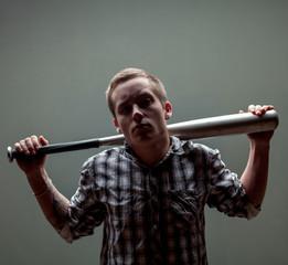 guy with a baseball bat
