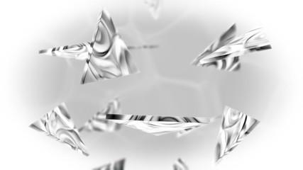 Falling triangles.Seamless loop