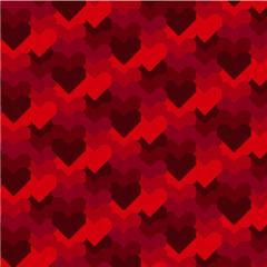 Red Hearts Pixel Art Valentine Pattern