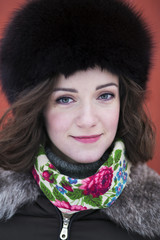 Portrait of a woman on a fresh air