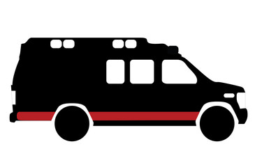 ambulance icon on white