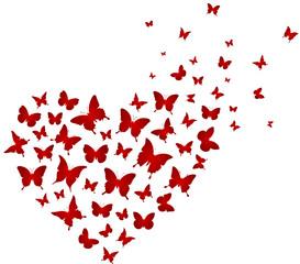 Schmetterlinge Vektor Herz