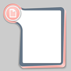 abstract box for any text and document icon