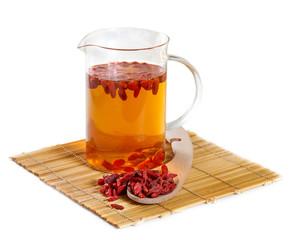 Herbal tea from goji berries