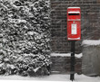 Red postbox - 77531563