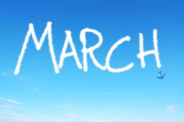 march written in the sky