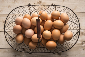 Baket with eggs