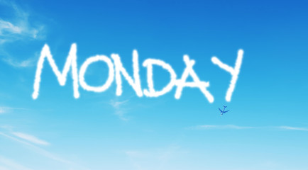 monday written in the sky