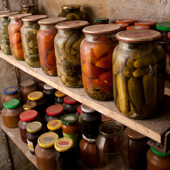 preserves in bottles