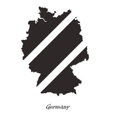 Black map of Germany for your design