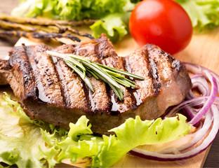 Beef steak with fresh herbs