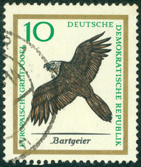 stamp printed in Germany showing birds
