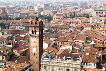 Cityscape of Verona above