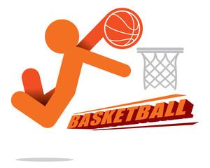 Action Basketball Player Icon Vector