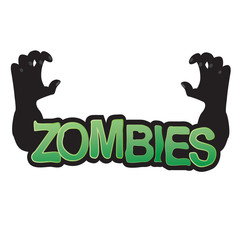 Zombie hand coming out