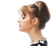 Pinup woman, style retro haircut