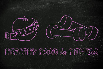mind, body and soul: fit life and healthy food