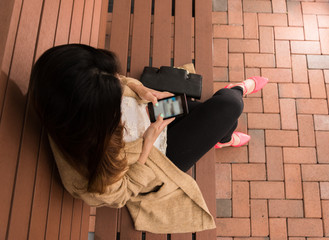 Texting a Frend while Waiting