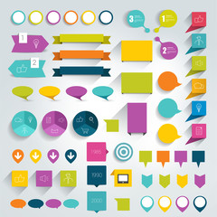 Collections of infographics flat design elements.