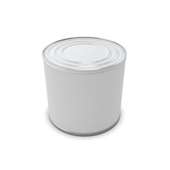 Template closed tin can for your design