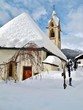 Leinwanddruck Bild - Kirche in Serfaus, Tirol