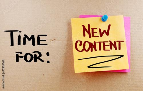 Leinwanddruck Bild Time For New Content Concept
