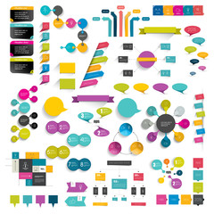 Set of infographic elements.