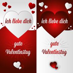 Carte postale jour Saint Valentin offrir amour allemand