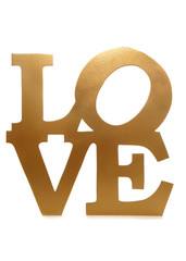 gold love sign