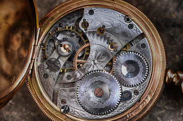 disassembled  watch