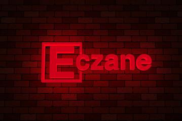 Tipografi; 3D Eczane Neon Duvar