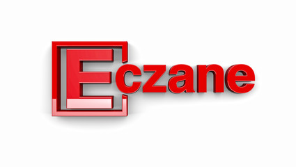 Tipografi; Eczane 3D Modelleme