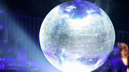 Glittering party ball turning