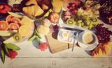Hintergrund - Frühstück - retro