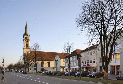 Leinwandbild Motiv Plattling. Bavaria. Germany