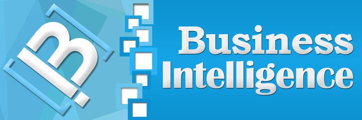BI - Business Intelligence Blue Square Separator