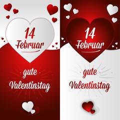 Carte postale Saint Valentin offrir amour allemand 14 février