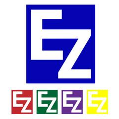 EZ White on Different Colors Logo