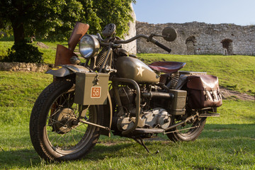 Vintage WWII US Army motorcycles Indian Model 741