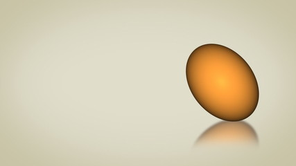 Animated spinning egg for Easter