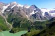 aussicht berge bergsee alpen austria schnee himmel urlaub