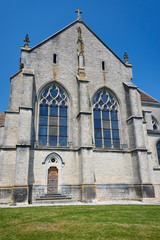 The medieval church in Champagne, France.