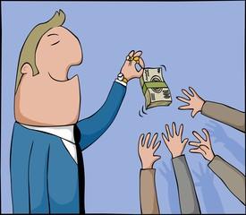 money tease